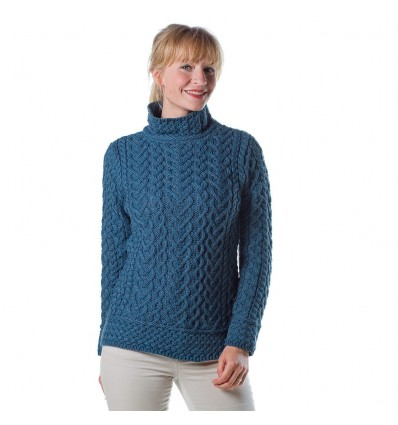 Arancraft pullover met turtle kol magenta